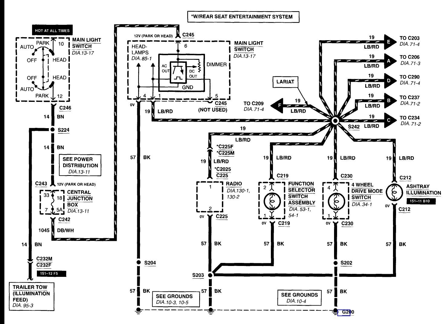 2001 ford f 150 light wiring diagram