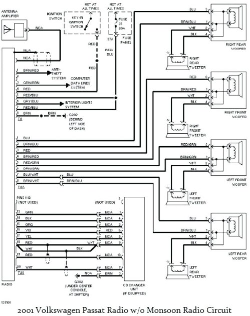 small resolution of 2001 vw jetta radio wiring diagram 1999 vw passat stereo wiring colors wire center u2022