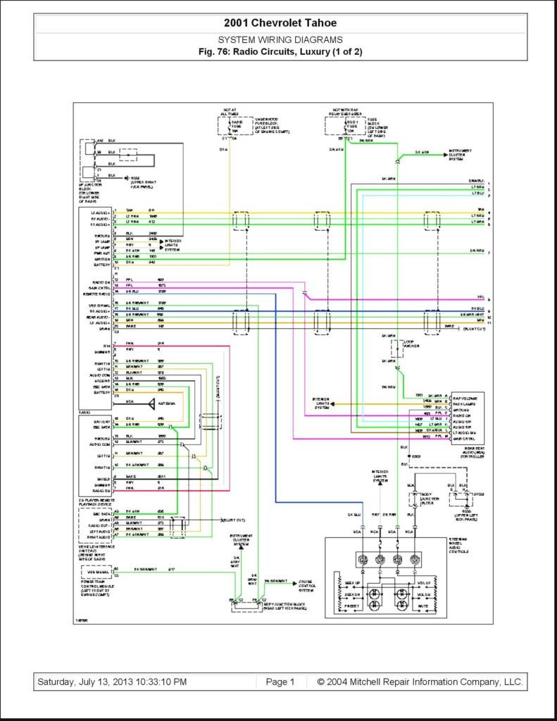 1994 Saturn Radio Wiring Diagram