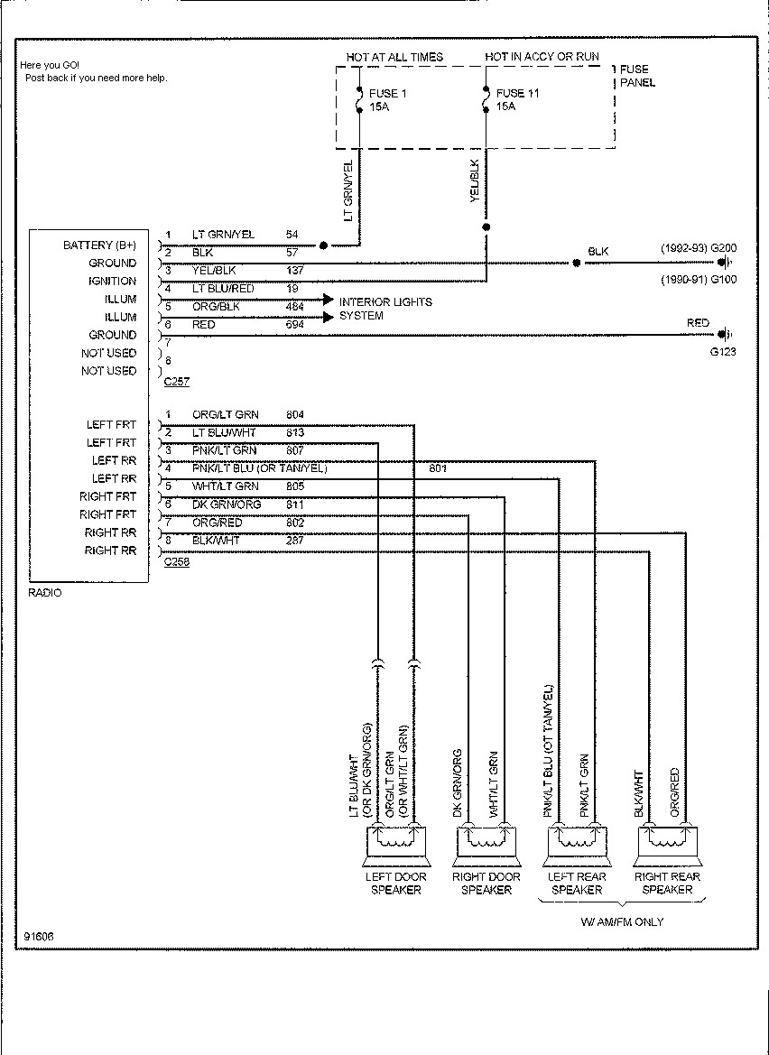 1999 Ford Windstar Fuse Diagram On 95 Ford Windstar Radio Wiring