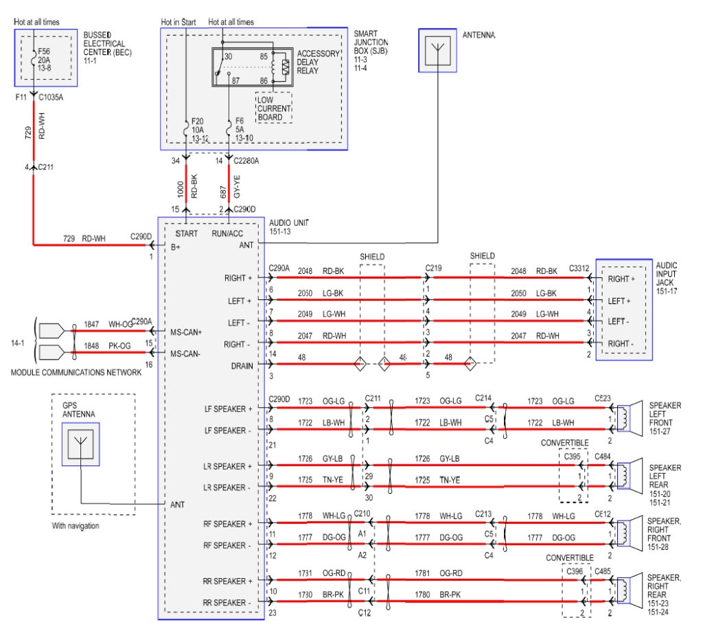 2003 Ford Wiring Diagram Stereo Escape