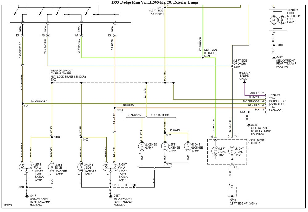 medium resolution of 2003 dodge ram tail light wiring diagram