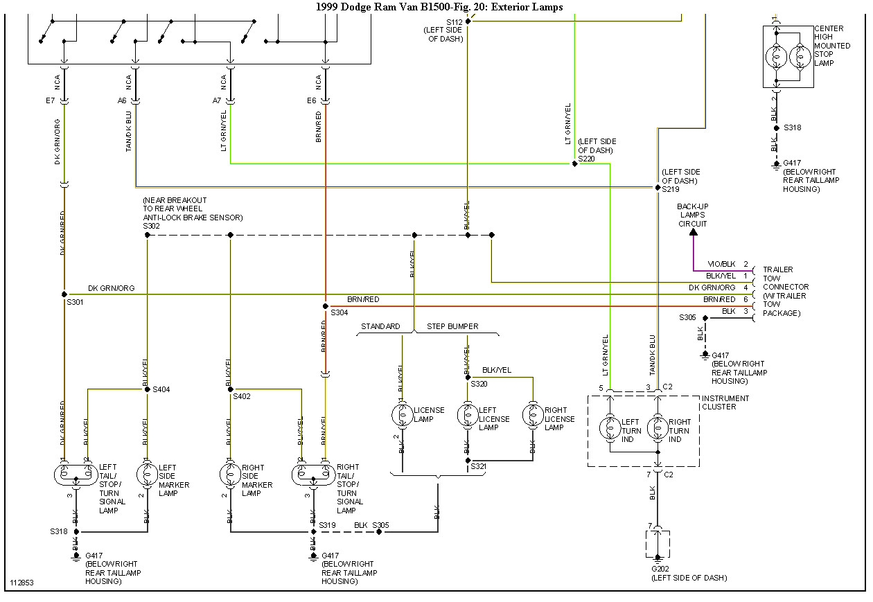 hight resolution of 2003 dodge ram tail light wiring diagram