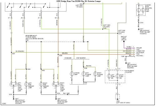 small resolution of 2003 dodge ram tail light wiring diagram
