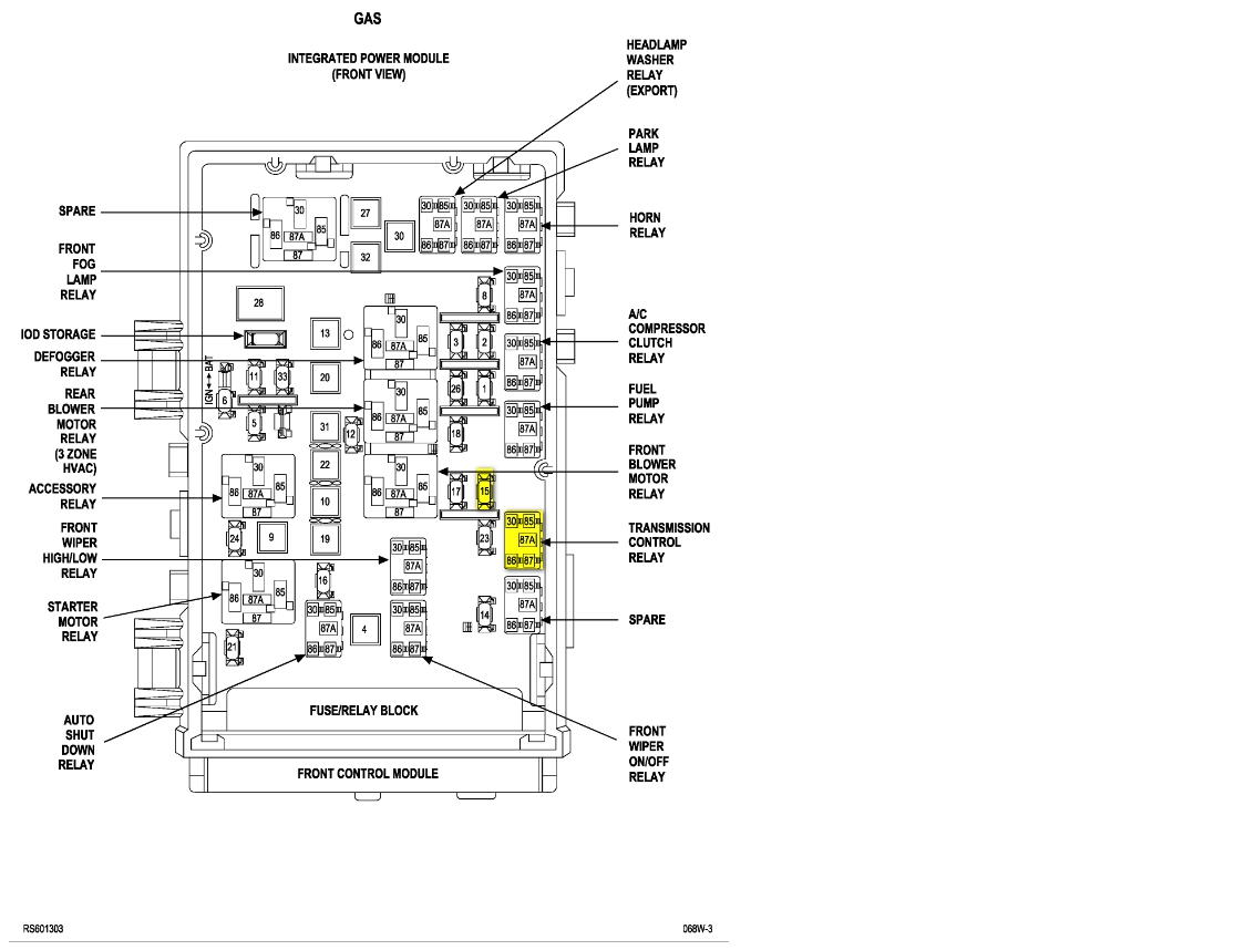 [DIAGRAM] Chrysler Pacifica 2005 Fuse Ac Stereo FULL