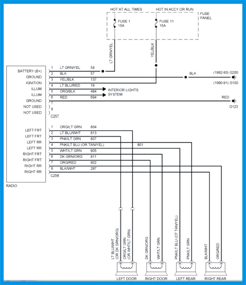 medium resolution of 2004 ford explorer stereo wiring diagram