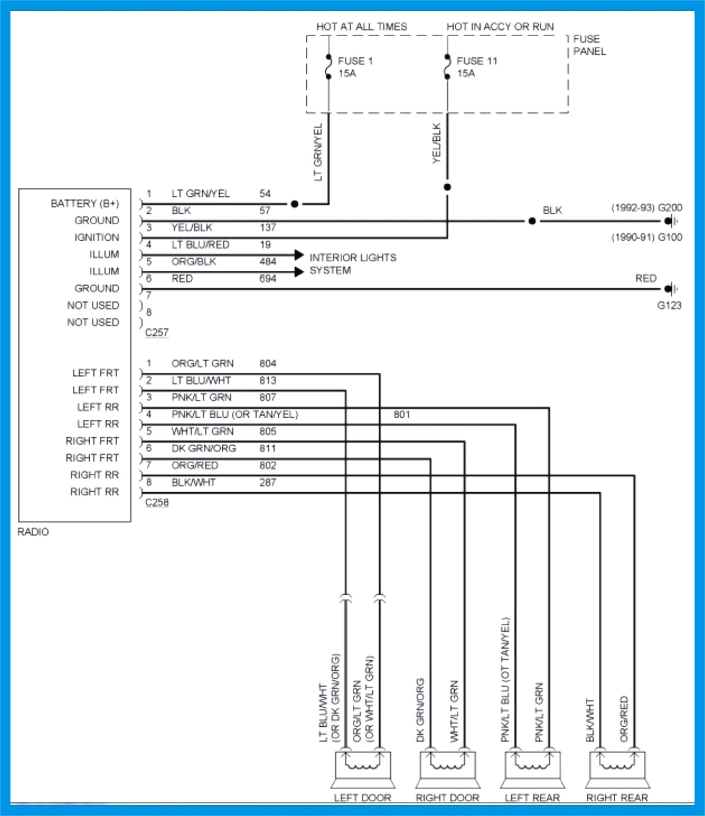 hight resolution of 2004 ford explorer stereo wiring diagram