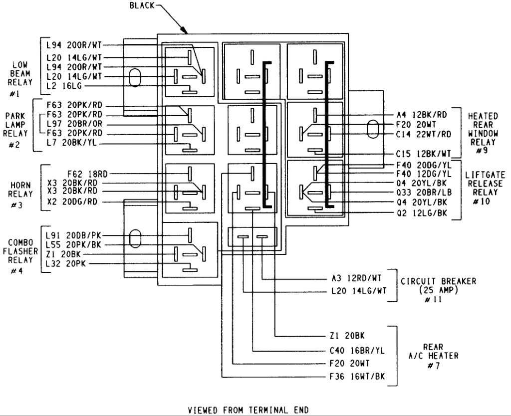 1996 dodge caravan wiring diagram