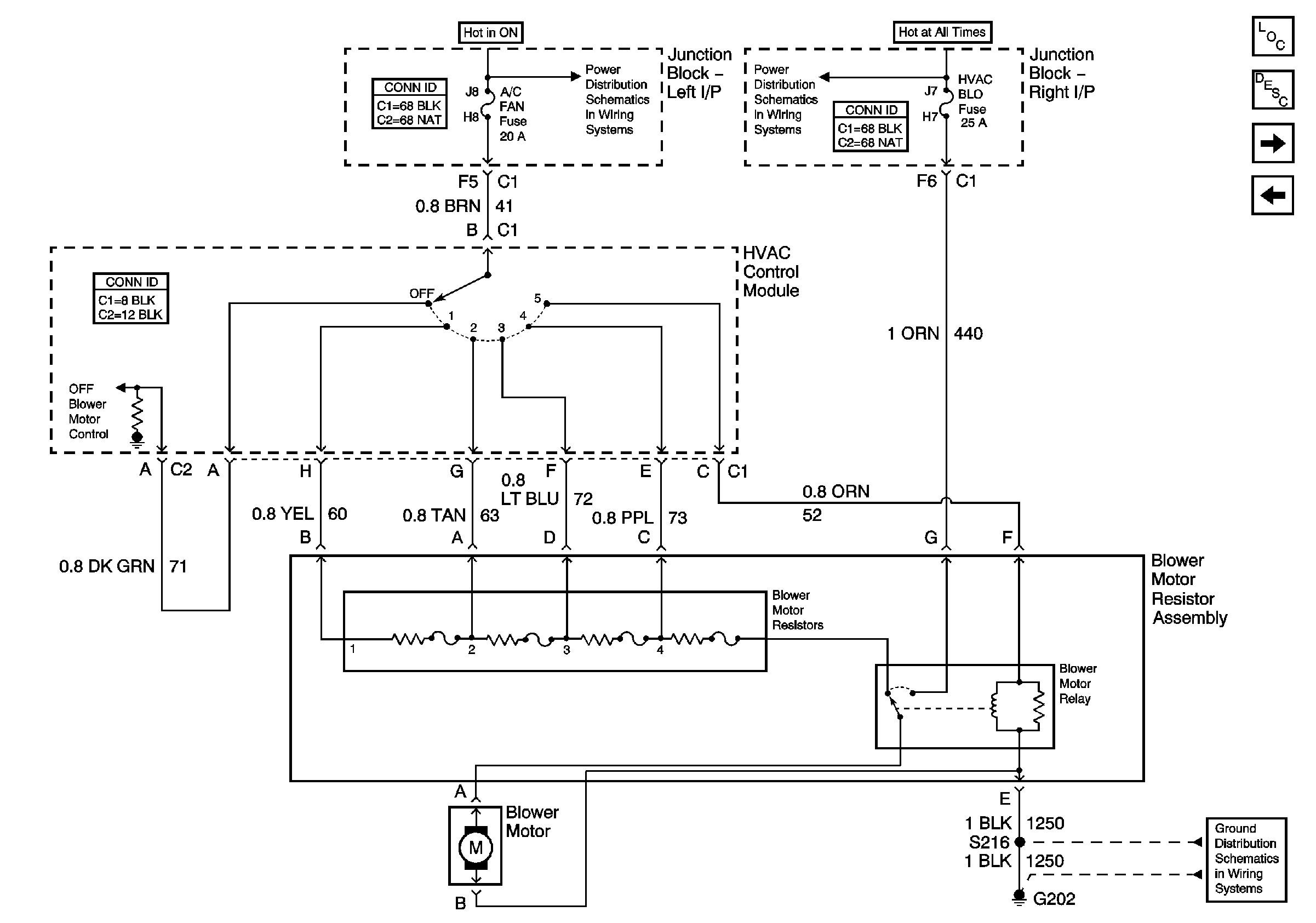 2004 Chevy Tahoe Blower Motor Resistor