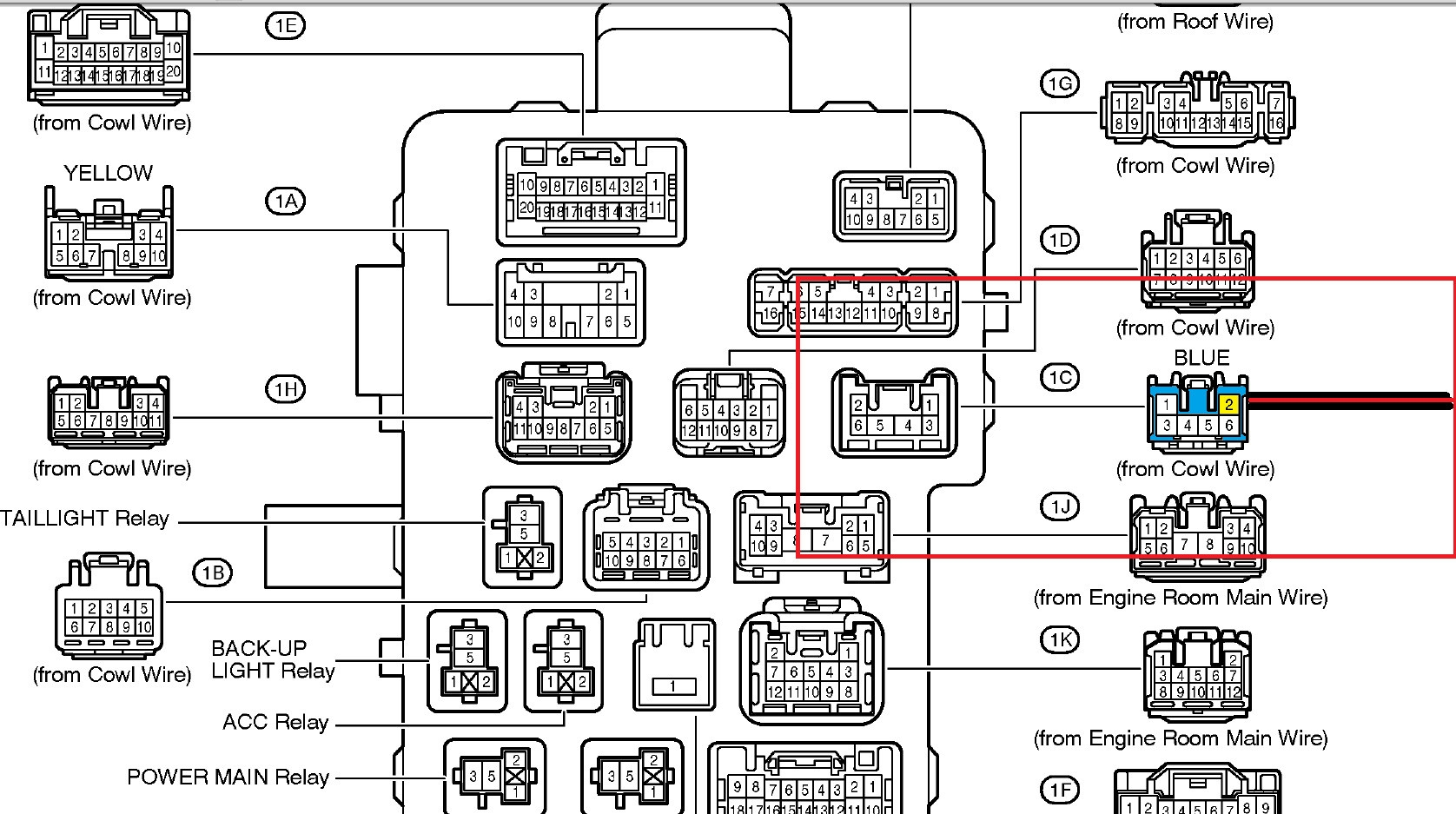 wiring schematic 2006 avalon