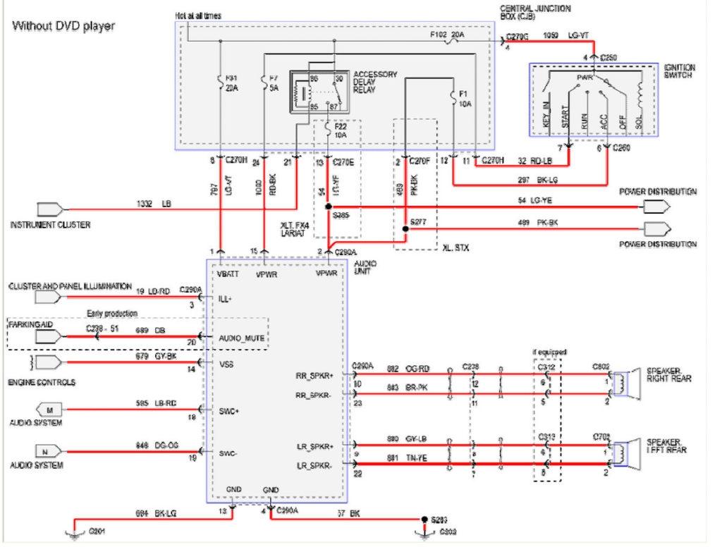 hight resolution of 2008 ford f250 radio wiring diagram 2008 ford f250 wiring diagram 11i