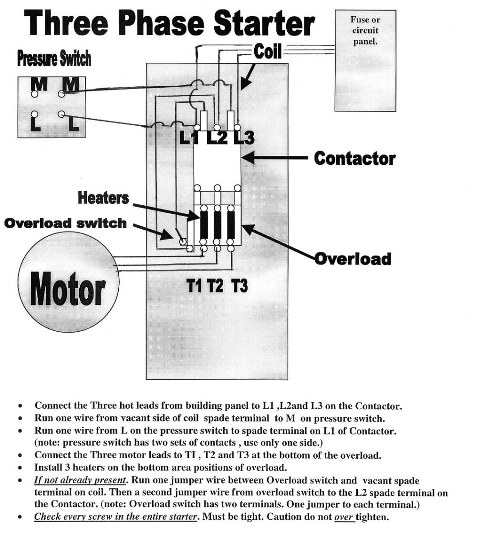 medium resolution of 3 phase electric motor starter wiring diagram