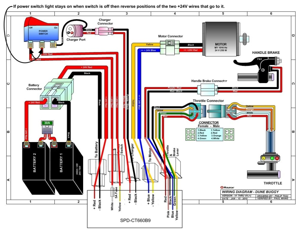 medium resolution of 36 volt electric scooter wiring diagram