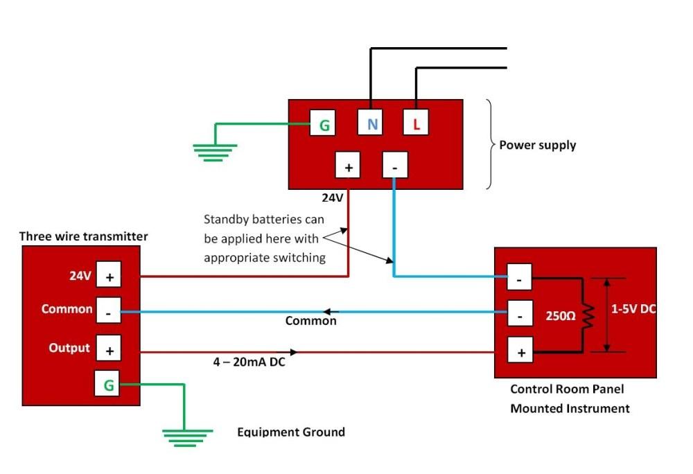 medium resolution of 4 wire transmitter wiring diagram