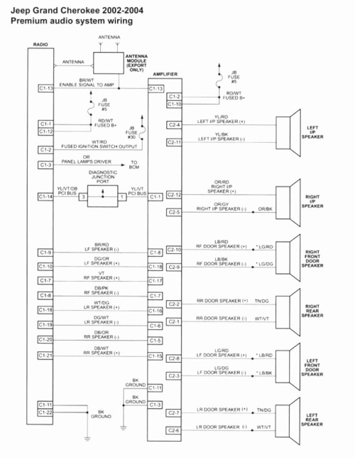 small resolution of 97 jeep grand cherokee radio wiring diagram