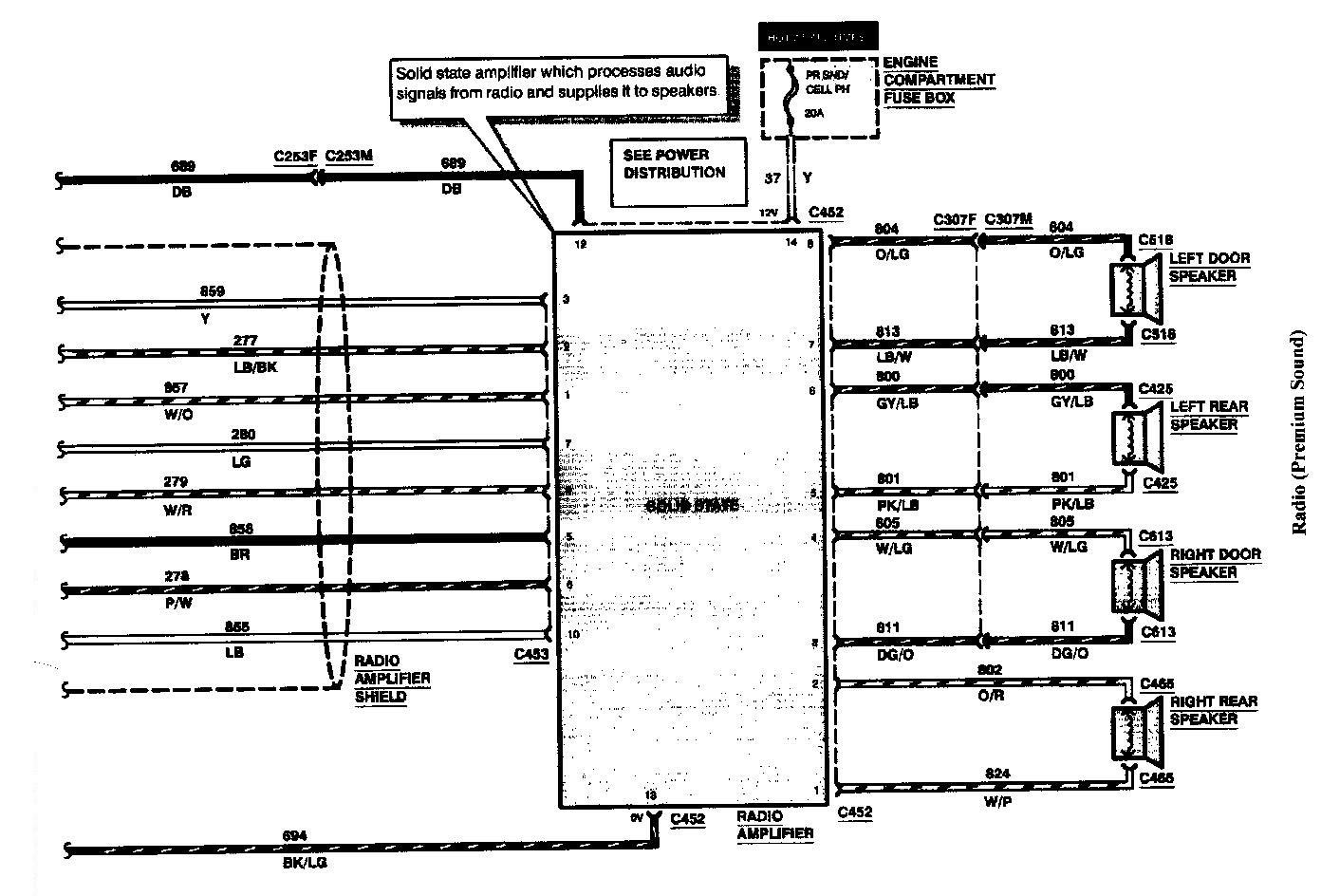 hight resolution of 97 lincoln continental radio wiring diagram