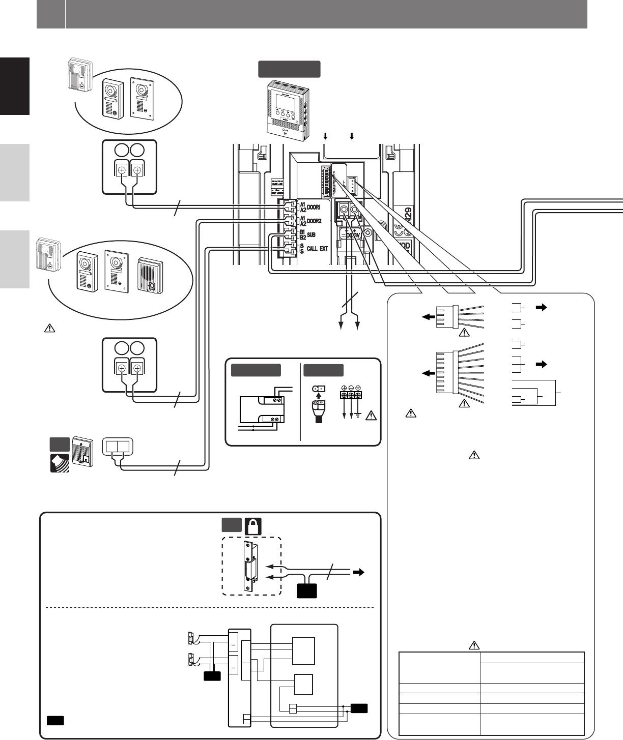 wiring diagram of intercom