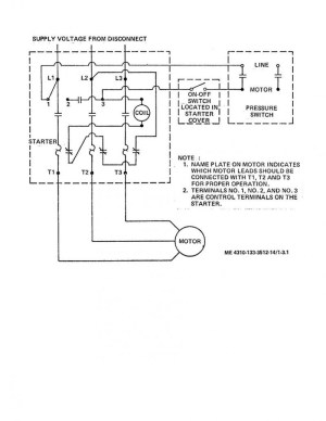 Air Compressor Wiring Diagram 230v 1 Phase | Free Wiring