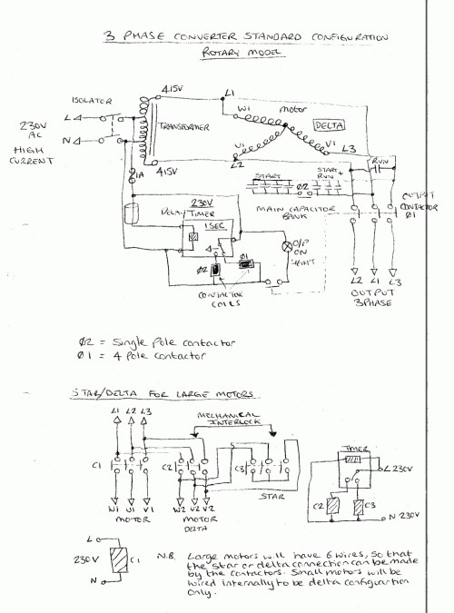 small resolution of 3 phase rotary converter wiring diagram free picture