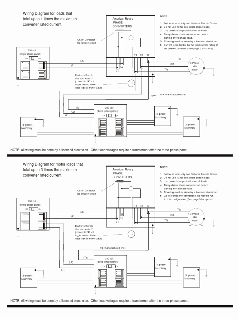 medium resolution of american rotary phase converter wiring diagram