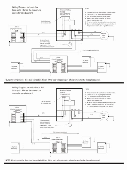 small resolution of american rotary phase converter wiring diagram