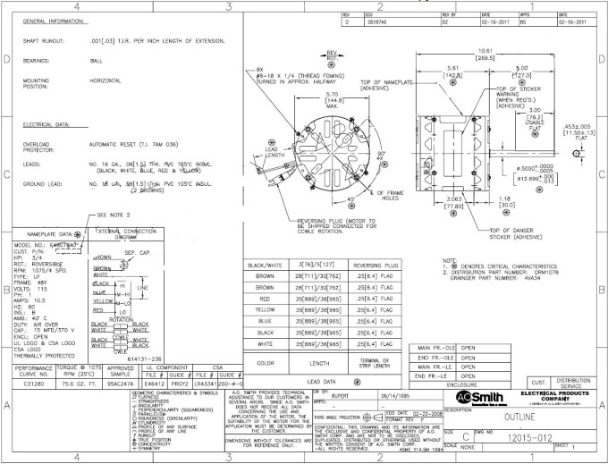 Ao Smith Fan Motor Wiring Diagram | Sante Blog