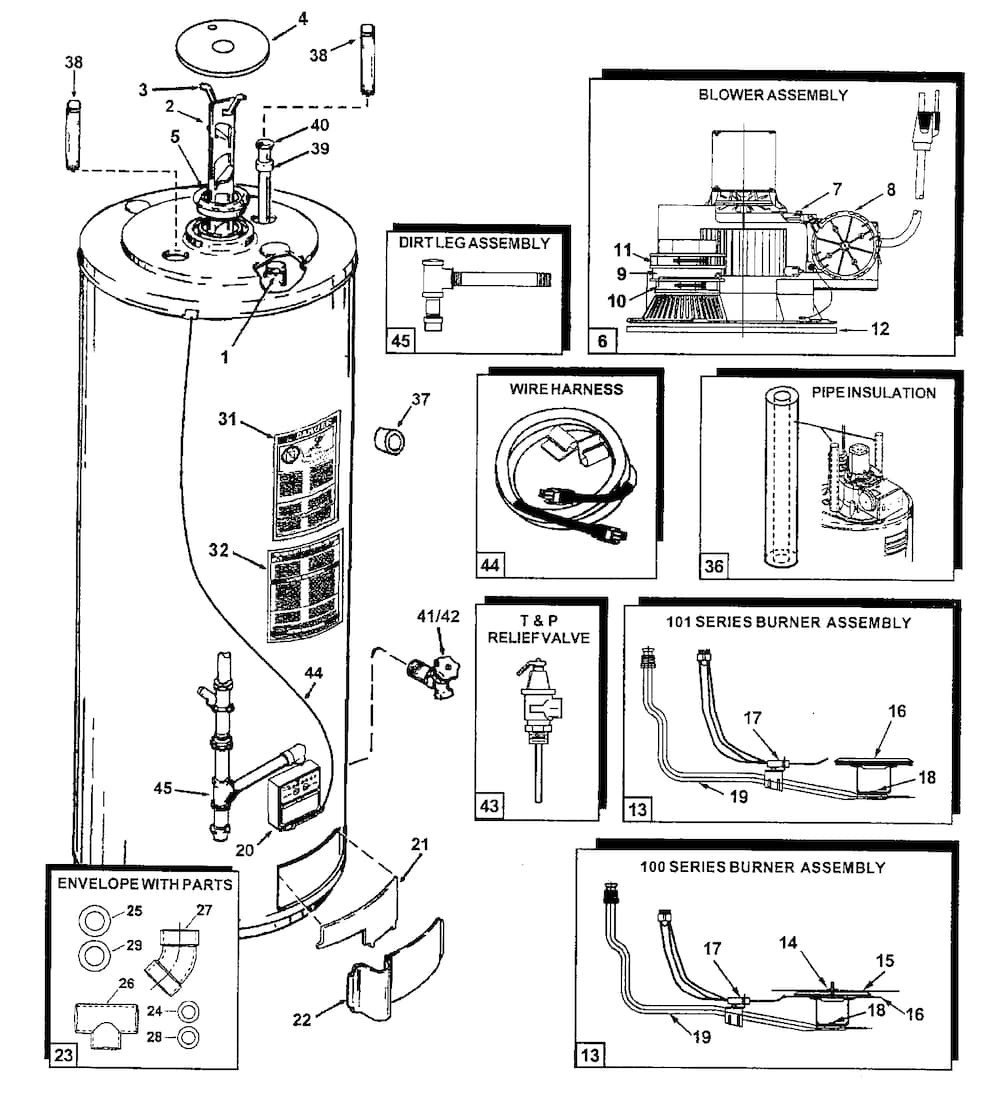 Ao Smith Water Heater Wiring Diagram - Wiring Diagram Online on