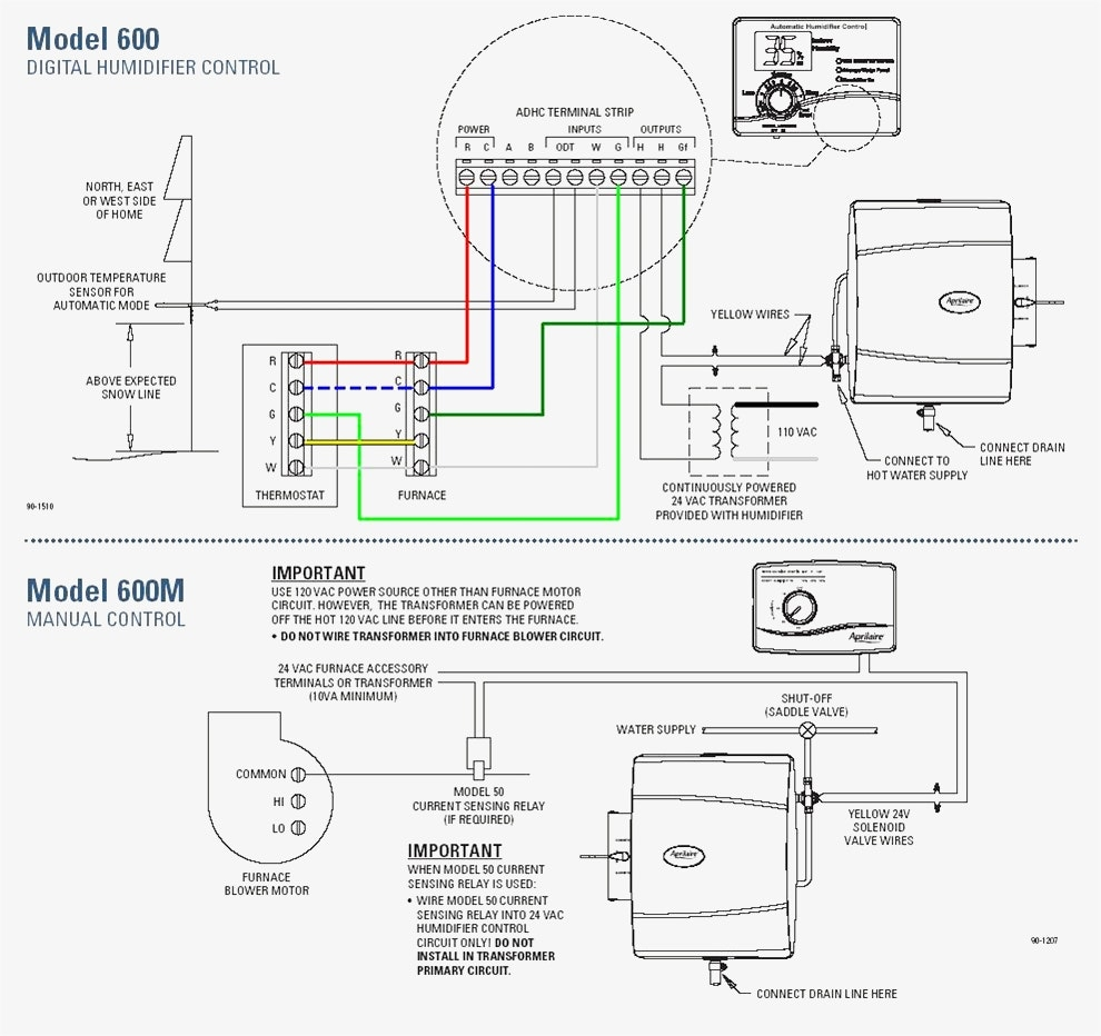 aprilaire humidifier wiring diagram wiring diagrams