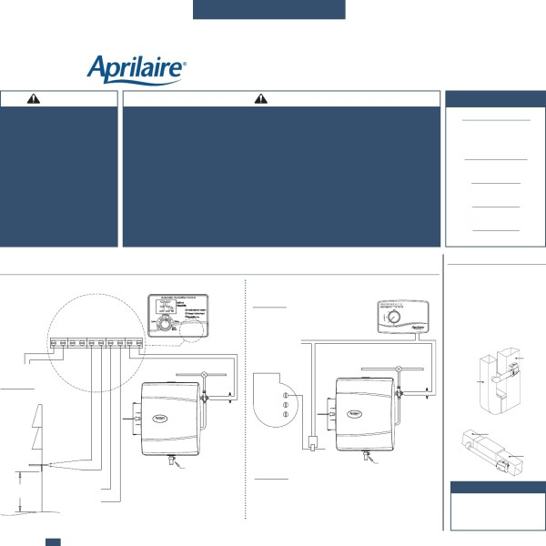 Aprilaire 700 Humidifier Wiring Diagram - Year of Clean Water on