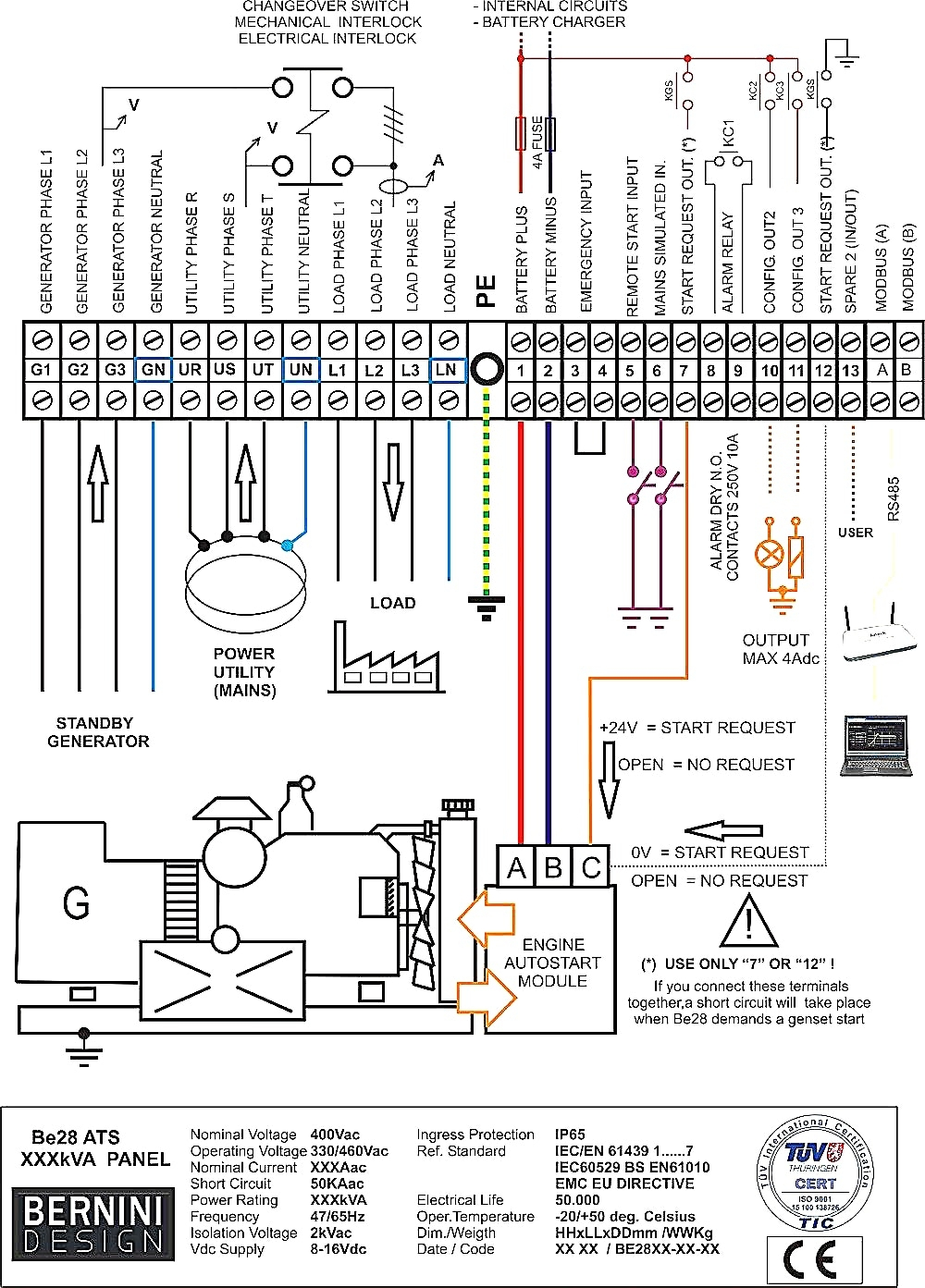 generator transfer switch circuit diagram