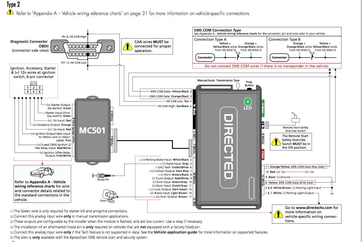 Avital 4x03 Remote Start Wiring Diagram