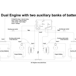 Dual Battery Isolator Wiring Diagram Boat Cat5 Marine Great Installation Of