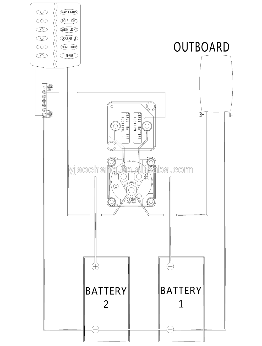 Switch Wiring Diagram As Well Perko Dual Battery Switch Wiring Diagram