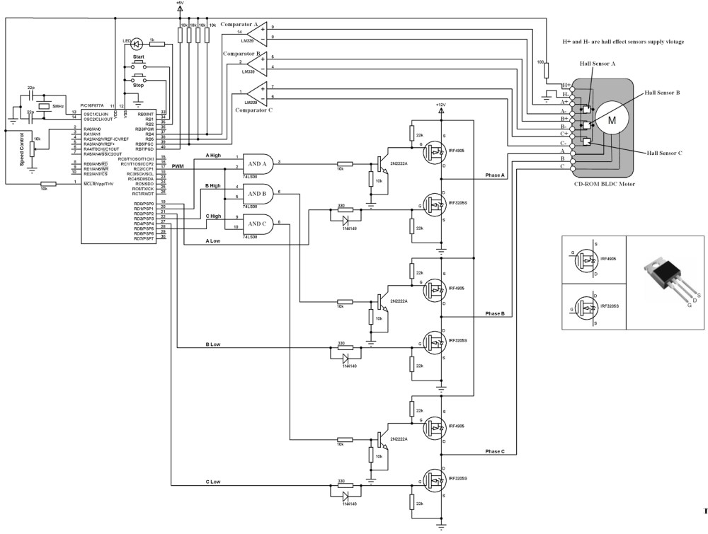medium resolution of bldc motor controller wiring diagram