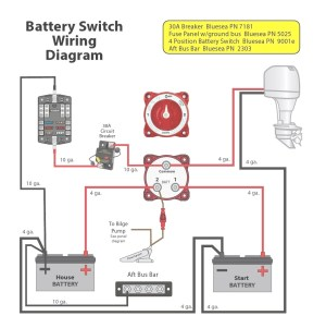 Blue Sea Dual Battery Switch Wiring Diagram | Free Wiring Diagram