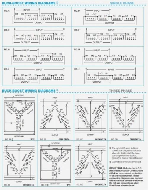 3 Phase 208 240 Buck Boost Transformer Wiring Diagram - on