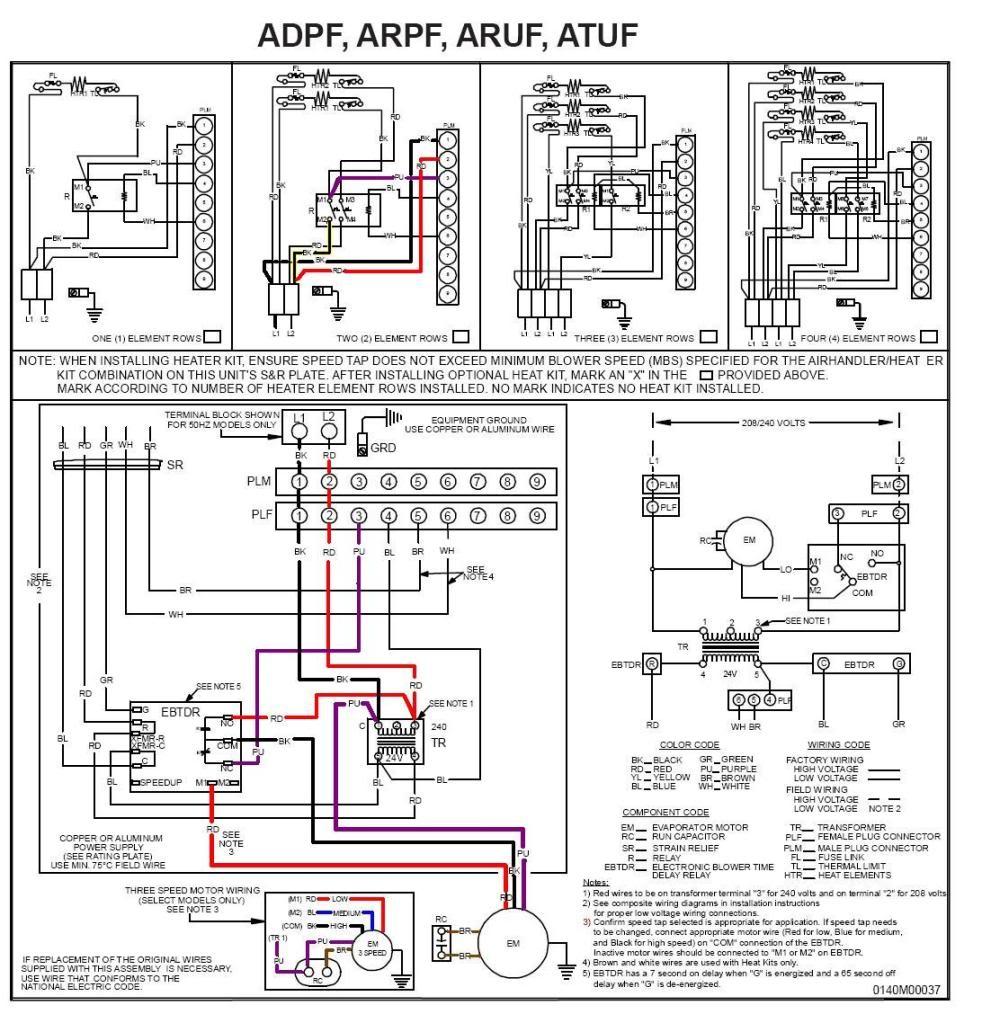 wiring diagram thermostat heat pump