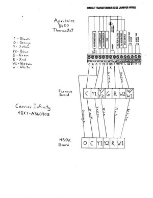Carrier Infinity thermostat Wiring Diagram | Free Wiring
