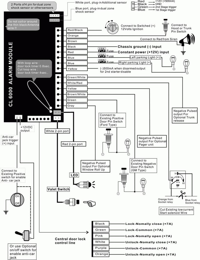 Wiring Diagram For Car Alarm ~ Module Wiring Diagram