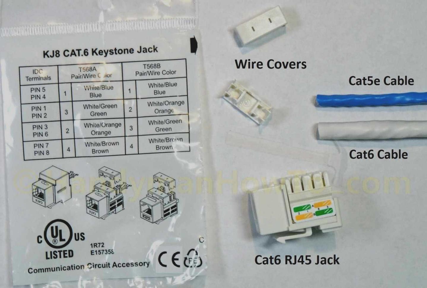Cat5e Keystone Jack Wiring Diagram Free Download cat 5 ... on