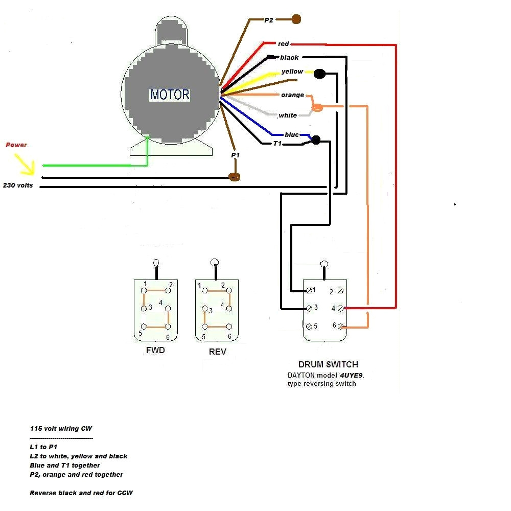 2 hp leeson motor wiring diagram