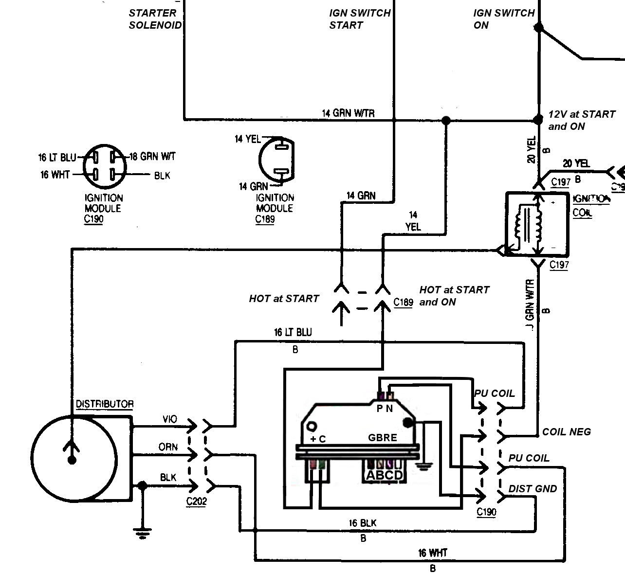 Gm Hei Distributor Wiring Diagram 65 88 - Technical Diagrams Hei Distributor Wiring Diagram on