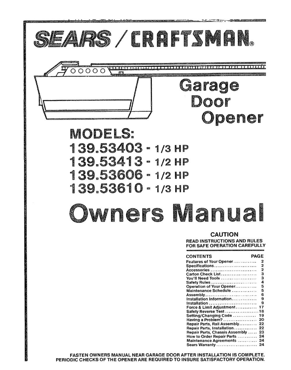 medium resolution of craftsman 1 2 hp garage door opener wiring diagram free wiring diagram craftsman 1 2 hp