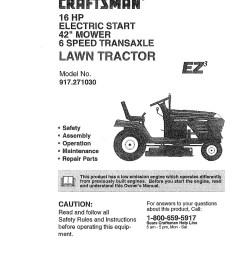 craftsman lawn mower model 917 wiring diagram [ 1262 x 1598 Pixel ]