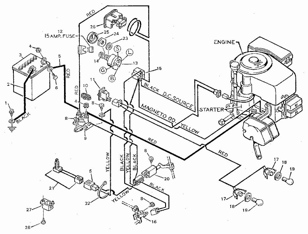 medium resolution of craftsman riding lawn mower lt1000 wiring diagram