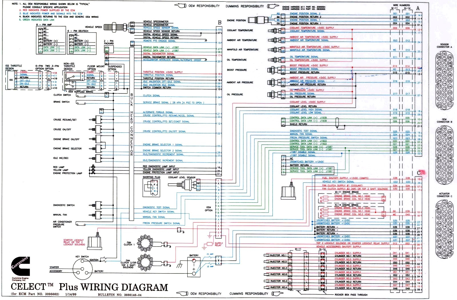 hight resolution of cummins n14 celect plus wiring diagram