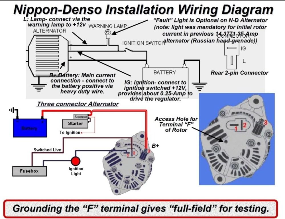 medium resolution of denso alternator wiring schematic free wiring diagram vw bug alternator wiring diagram 12v hitachi alternator wiring