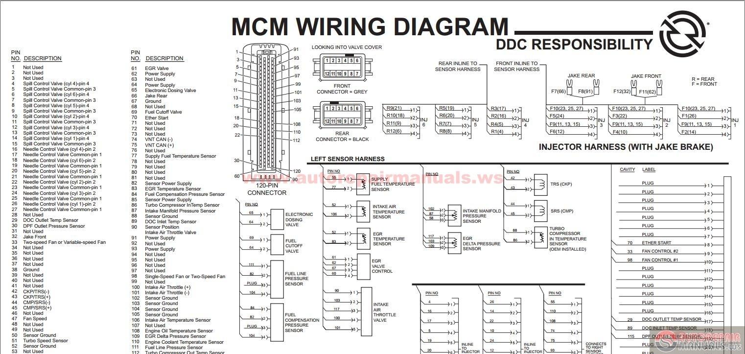 hight resolution of detroit diesel series 60 wiring diagram detroit sel ddec vi series 60 mcm egr engine