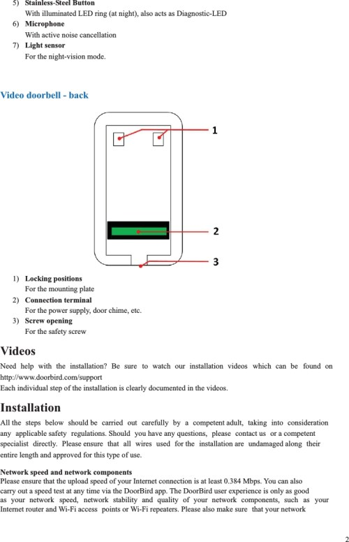 small resolution of doorbird wiring diagram