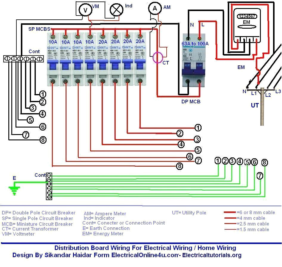 Double Pole Circuit Breaker Wiring Diagram Auto Electrical Wiring Diagram